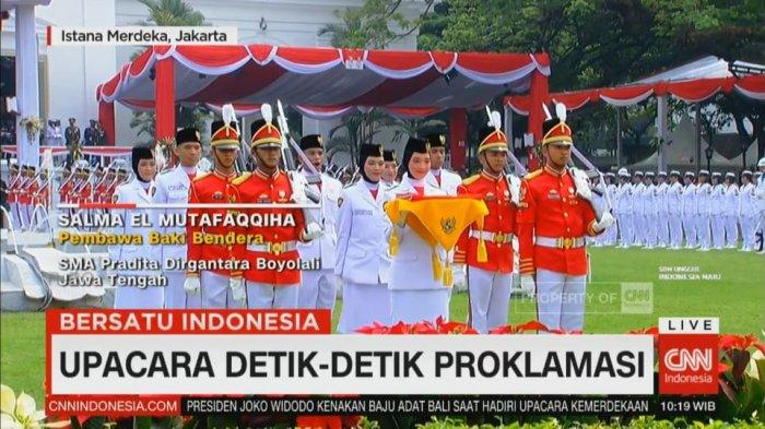 Fakta Fakta Salma El Mutafaqqiha Gadis Boyolali Pembawa Bendera Merah Putih Dari Presiden Jokowi Tribun Timur