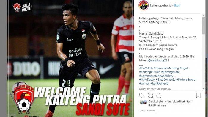 7 Update Transfer: Sandi Sute dan Pahabol ke Kalteng Putra, Borneo Gaet Playmaker Persija, Persib?