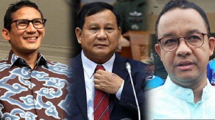 Paket Prabowo Subianto Anies Pilpres 2024 Tanpa Lawan? Liat Survei Sandiaga, Ganjar, AHY & Risma