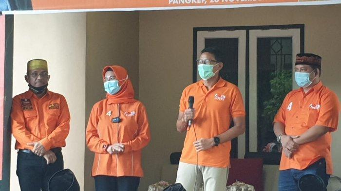 Sandi Bareng Anir-Lutfi Blusukan ke Pasar, Emak-emak Kegirangan