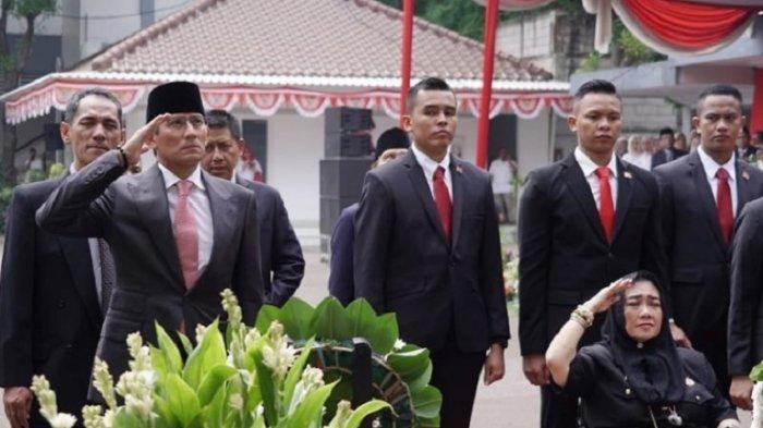 Beda Tempat Upacara 17 Agustus Sandiaga & Prabowo Subianto, Sandi: Kemerdekaan Itu Berdikari