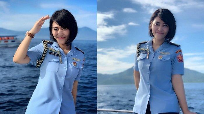 Cantiknya Sandhyca Putrie, Ajudan Ibu Negara Iriana Jokowi Berpangkat Kapten masih Single Jadi Viral