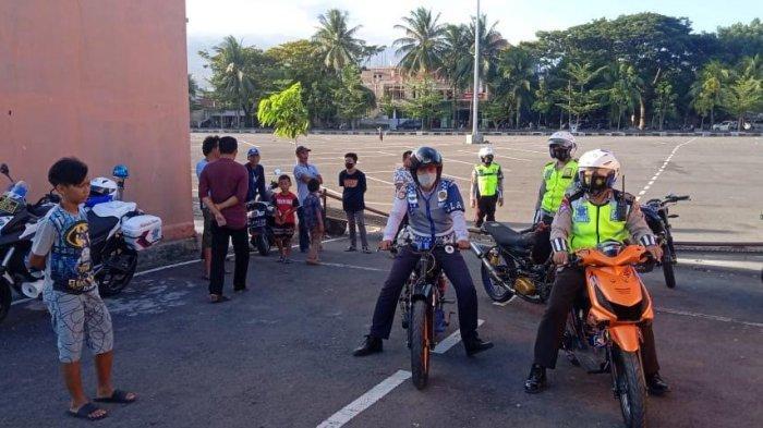 Sering Digunakan Balap Liar, Sat Lantas Polres Bantaeng Amankan Tiga Sepeda Motor
