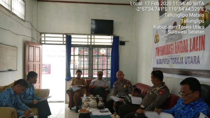 Sat Lantas Polres Toraja Utara Gelar Rapat Koordinasi Evaluasi Andalalin