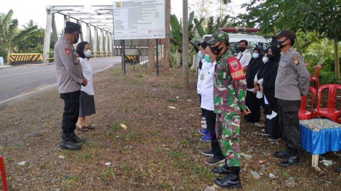 Pasca Iduladha, Satgas Penanganan Covid-19 Lakukan Penyekatan di Perbatasan Pinrang-Polman