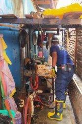 Arus Pendek Listrik, Satu Rumah di Jalan Gabus Pinrang Nyaris Dilalap Api