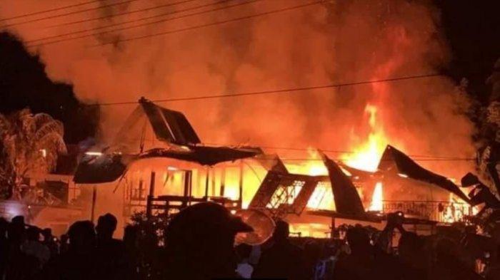 Satu Rumah di Leppangang Pinrang Hangus Terbakar, Kerugian Ditaksir Rp 500 Juta