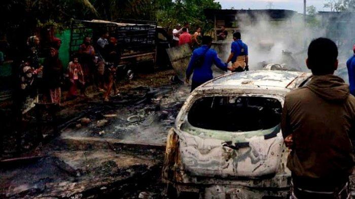 Satu Rumah Panggung di Sajoanging Wajo Dilalap Api, 5 Motor dan 2 Mobil Ikut Terbakar