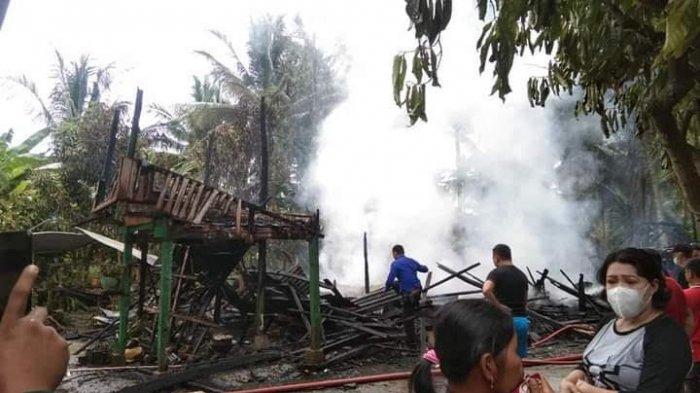 Satu Rumah Panggung Hangus Dilalap Api di Citta Soppeng, Kerugian Ditaksir Ratusan Juta