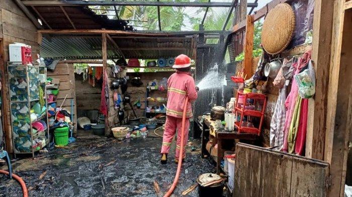 Satu Rumah Terbakar di Maleku Mangkutana Luwu Timur