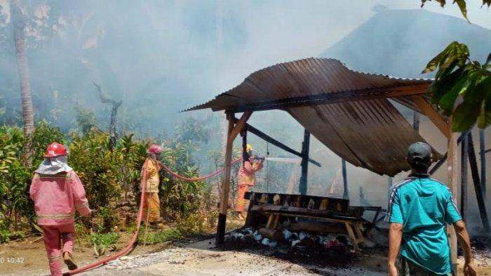 Satu Rumah Hasil Bedah Rumah di Sindu Agung Luwu Timur Ludes Terbakar