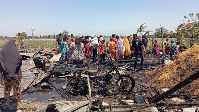 Kerugian Akibat Kebakaran di Jeneponto Ditaksir Rp120 Juta, Emas, Motor dan Gabah Hangus Dilalap Api