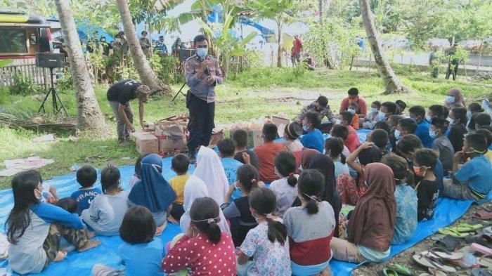 Sat Binmas Polres Majene Gandeng Penggiat Literasi Pulihkan Trauma Korban Gempa