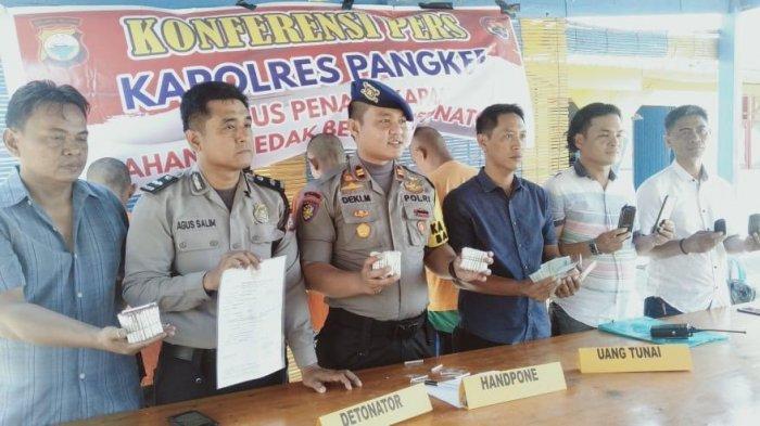 Polair Polres Pangkep Tangkap Penjual Ratusan Detonator Bom Ikan