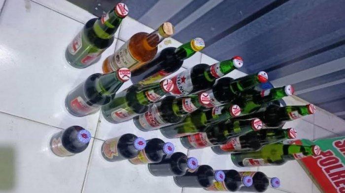 Sat Narkoba Amankan Puluhan Botol Miras di 3 Tempat di Barru