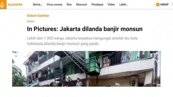 Media asal Qatar, Aljazeera ikut memberitakan Banjir Jakarta 2021