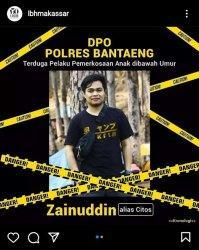 Kenali Wajah DPO Tersangka Kasus Rudapaksa Anak di Bawah Umur di Bantaeng, Pelaku Belum Ditangkap