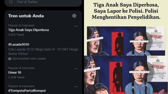 Screenshot postingan 'Tiga Anak Saya Diperkosa'/Tangkapan Layar/https://projectmultatuli.org/