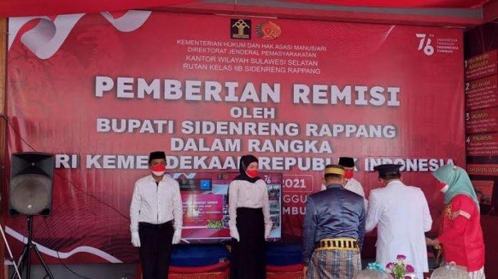 210 Napi Rutan Sidrap Terima Remisi di HUT ke-76 RI, Satu Orang Langsung Bebas