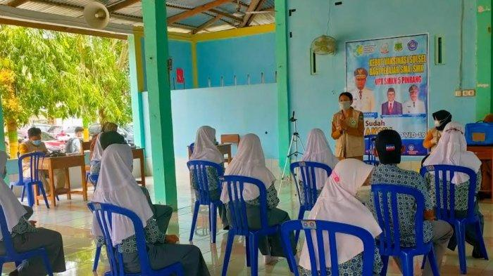 Persiapan Pembelajaran Tatap Muka, 218 Pelajar SMKN 5 Pinrang Divaksin Covid-19