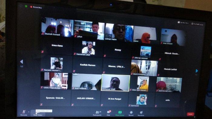 30 Auditor Mutu Akademik Unismuh Makassar Ikuti Penyegaran Lewat FGD Virtual