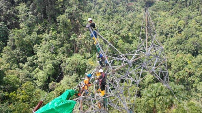 57 Teknisi PLN Diterjunkan Khusus Benahi Tower Transmisi Bolaang Mongondow
