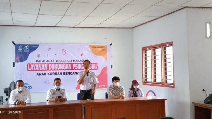 62 Anak Terdampak Angin Kencang di Sidrap Terima Bantuan dari Balai Anak Toddopuli Makassar