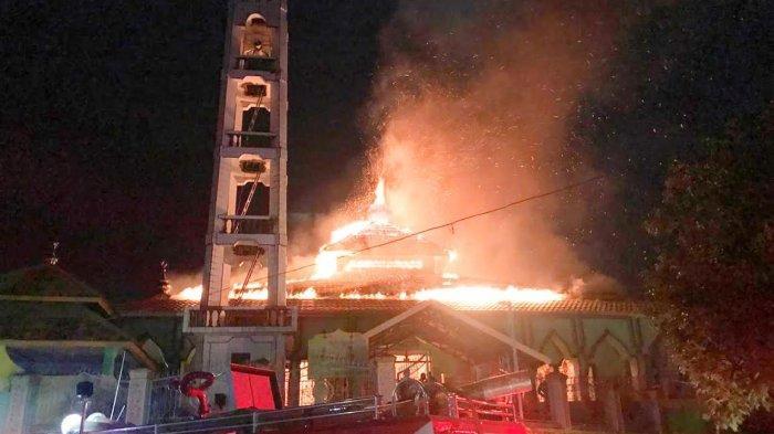 Masjid di Kelurahan Bila Soppeng Terbakar, Diduga Akibat Korsleting Listrik
