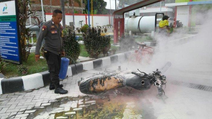 Motor Pegawai SPBU Ammassangeng Sengkang Terbakar, Polisi Sebut Akibat Modifikasi Tangki