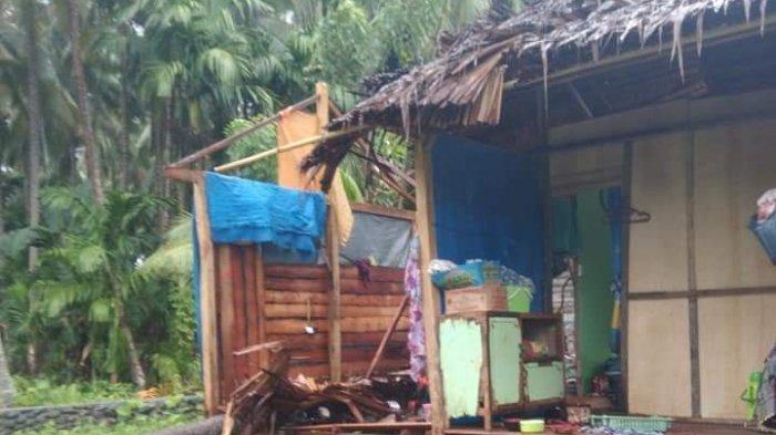 Pohon Kelapa Tumbang, Dapur Rumah Warga Desa Lombong Majene Hancur