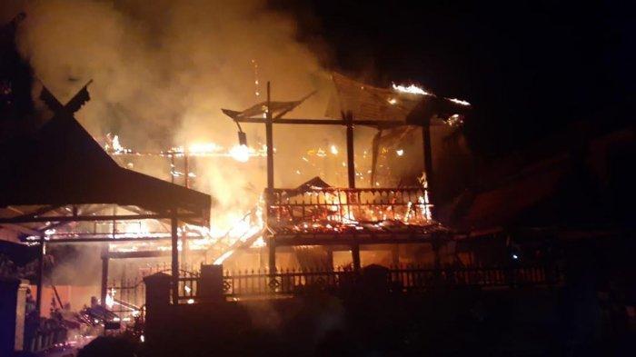Satu Rumah di Ralla Barru Hangus Dilalap Api
