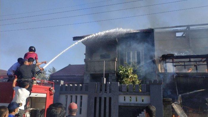 Satu Rumah di Awerangnge Barru Hangus Dilalap Api
