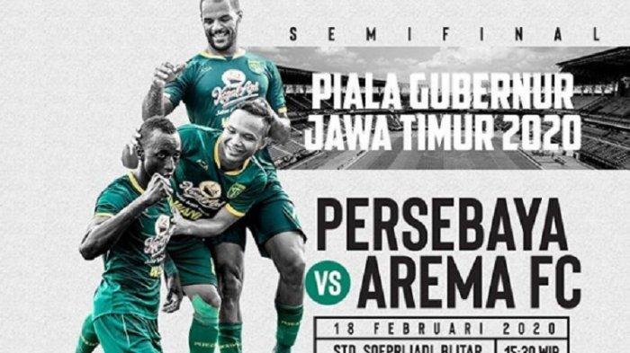 SEDANG BERLANGSUNG 4 LINK Live Streaming TV Online Persebaya vs Arema FC, Akses di Sini Tonton di HP