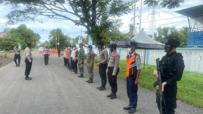 Operasi Ketupat Usai, Personel Polres Polman Tetap Siaga di Perbatasan dengan Kabupaten Pinrang