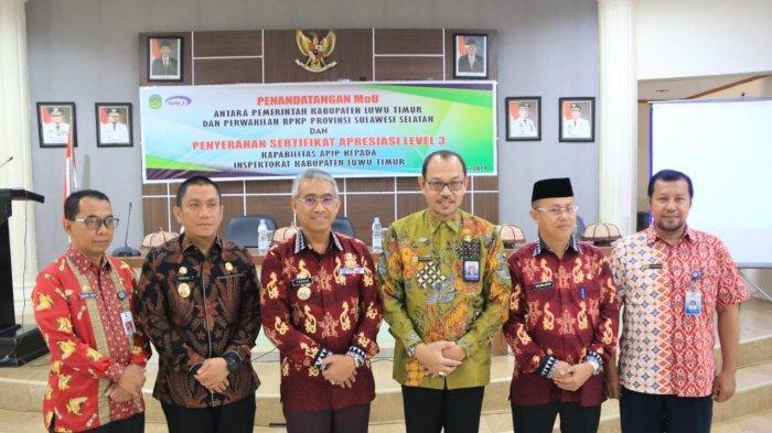 Inspektorat Luwu Timur Terima Sertifikat Level Kapabilitas 3 APIP