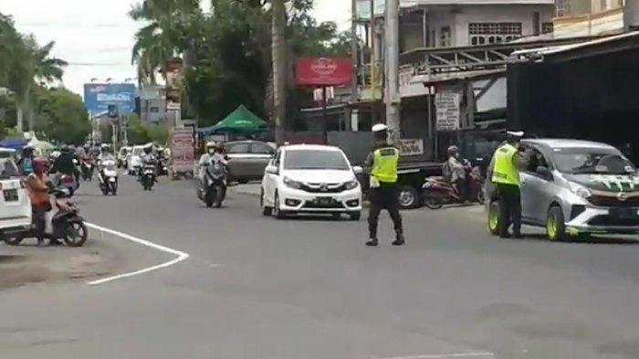Operasi Patuh di Jl Andi Djemma Palopo, Banyak Pengendara Putar Balik