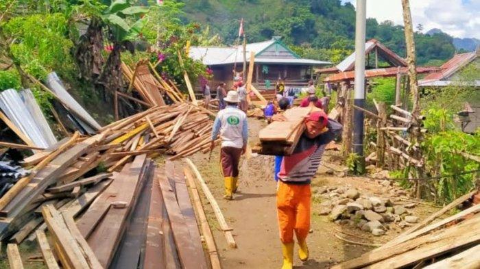 Korban Longsor di Bau Selatan Tana Toraja Mengungsi di Tenda Darurat