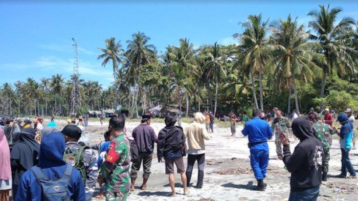 Hingga Pukul 11.00 Wita Mahasiswa Terseret Ombak di Pantai Mampie Belum Ditemukan