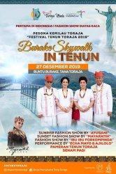 Pertama di Indonesia, Burake Skywalk In Tenun Tana Toraja, Fashion Show di Atas Kaca