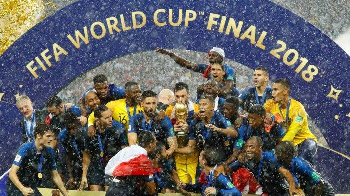 Jumlah Hadiah Diterima Prancis saat Jadi Juara Piala Dunia 2018, Bandingkan Kroasia dan Belgia