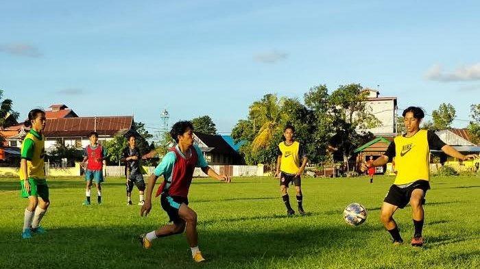 Tim Sepakbola Porprov Sinjai Gelar Uji Coba Sore Ini