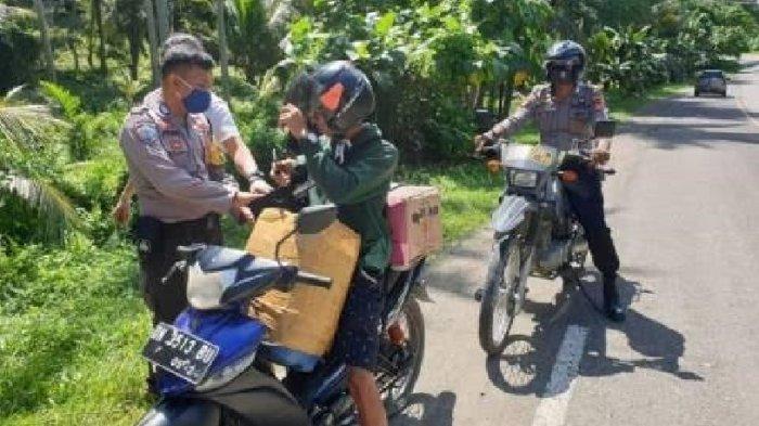Bawa Miras 2 Jeriken, Seorang Mahasiswa Diamankan Polisi di Batas Pasangkayu-Donggala