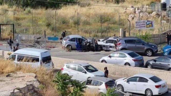 Pengemudi Palestina Menabrak Kerumunan Polisi Israel, 6 Alami Luka Berat, Hamas Puji Aksi Heroik