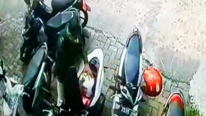 Pria Terekam CCTV Curi Helm di Kantor Bupati Tana Toraja, Pelakunya Pakai Jaket Hitam