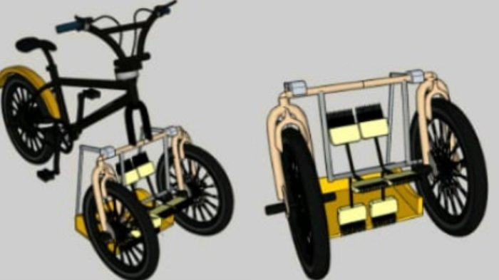 Mahasiswa Teknik Industri FTI UMI Buat Sepeda Penyapu Jalan Ramah Lingkungan, Juara di Gorontalo