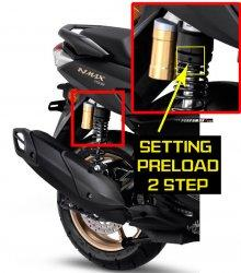 Setel shockbreaker belakang Yamaha Nmax