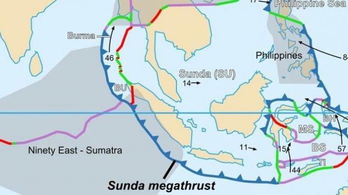 Setting lempeng tektonik Sunda Megathrust.