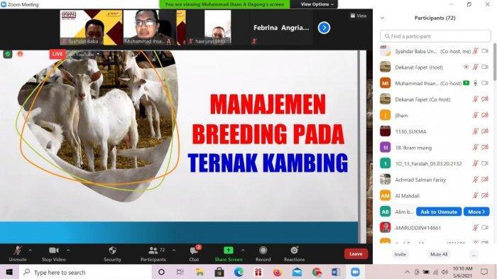 Unhas dan HPDKI Bahas Manajemen Breeding pada Ternak Kambing
