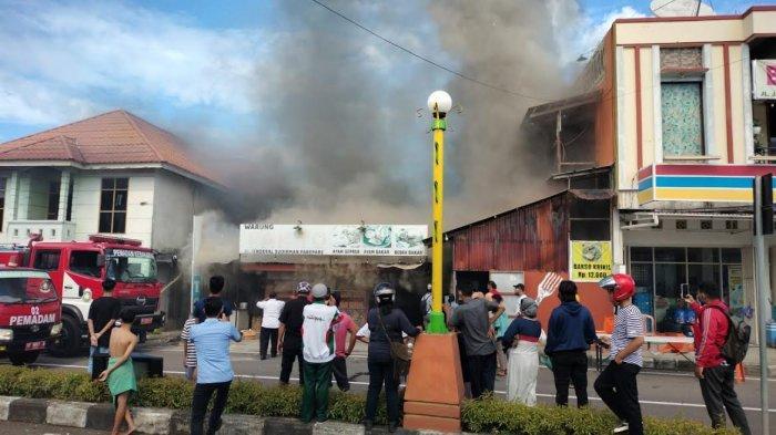 Rumah Makan di Jl Jendral Sudirman Parepare Terbakar, Pemilik Rugi Ratusan Juta