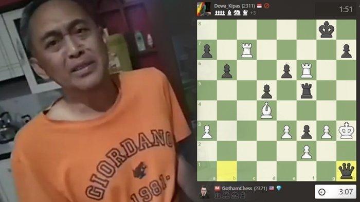Siapa Dewa Kipas Pemain Catur Indonesia Kalahkan Gotham Chess Atlet Catur Dunia? Akun Diblokir